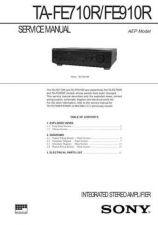 Buy Sony TA-FE710R Manual by download Mauritron #229886
