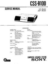 Buy Sony CSS-B100 Manual-1663 by download Mauritron #228439