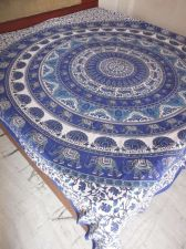 Buy Indian hand block print pure cotton fabric bed sheet elephant cotton bed spared