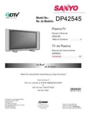 Buy Fisher DP42545 (ES) 4792A- Service Manual by download Mauritron #215433