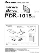 Buy Pioneer PDK1016 Service Manual by download Mauritron #234689