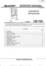 Buy Sharp VB-700 Technical Information by download Mauritron #233052
