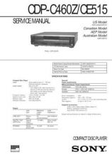 Buy Sony CDP-C450ZCE505 Service Manual by download Mauritron #237286