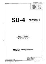 Buy NIKON SU-4 Parts List by download Mauritron #266239