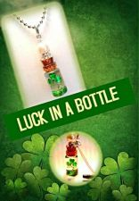 Buy luck in a bottle Name On Rice necklace charm St Patricks Day gift