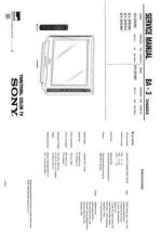Buy Sony KV-20TS-CHASSIS-P3B Service Manual by download Mauritron #244268