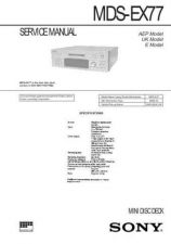 Buy Sony MDS-EX77 Manual by download Mauritron #229645