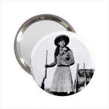 Buy Annie Oakley Western Hero Round Handbag Purse Mini Mirror