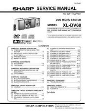 Buy Sharp XLDV60 Service Manual by download Mauritron #207708