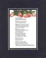 Buy Heartfelt Poem for Sister - My Sister, My Forever Friend on11x14 Double Matting