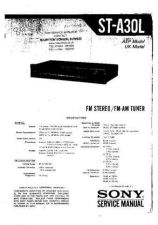 Buy SONY STA30L TUNER SERVICE MANUAL by download #109324
