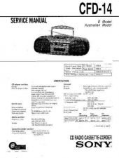 Buy Sony CFD-151 Service Manual by download Mauritron #238686