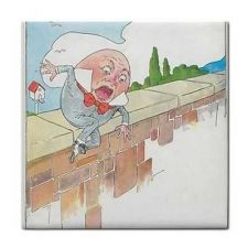 Buy Humpty Dumpty Egg Rhyme Vintage Art Ceramic Tile