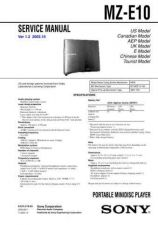 Buy Sony MZ-E10. Technical Information by download Mauritron #235791