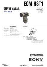 Buy Sony ECM-HST1 Service Manual by download Mauritron #231966