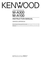 Buy Kenwood M-A100 Operating Guide by download Mauritron #222964