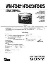 Buy Sony WM-FX421-423-425 Service Manual. by download Mauritron #245808