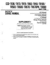 Buy Sony CCD-TR36-73-76-83-93-100-560-600-670-880 Service Manual by download Maurit