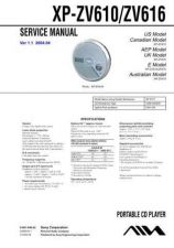 Buy Sony XP-ZV616 Service Manual. by download Mauritron #246052
