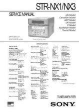 Buy Sony STR-WX5 Service Manual. by download Mauritron #245179