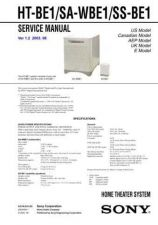 Buy Sony HT-BE1SA-WBE1SS-BE1.. Service Manual by download Mauritron #241400
