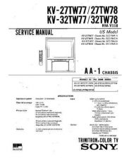 Buy Sony KV-27TW78 Manual by download Mauritron #229548