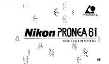 Buy NIKON Pronea 6i Instruction Manual by download Mauritron #266184