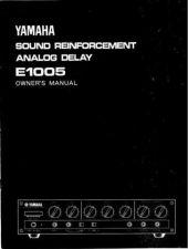 Buy Yamaha E1005E Operating Guide by download Mauritron #247747
