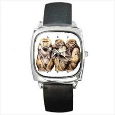 Buy Baboon Monkeys Art Unisex Square Wrist Watch