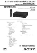 Buy SONY SLV-E130 by download #105144