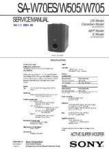 Buy Sony SA-W505 Manual by download Mauritron #229706