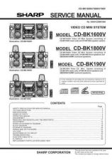 Buy Sharp CD-BP1700W Service Manual by download Mauritron #231101