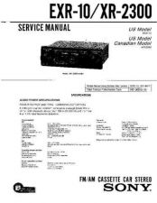 Buy Sony EXR-105XR-3740 Service Manual by download Mauritron #240645