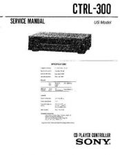 Buy Sony CTRL-300 Service Manual by download Mauritron #239346