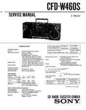 Buy Sony CFD-W100-S Manual-1663 by download Mauritron #228362