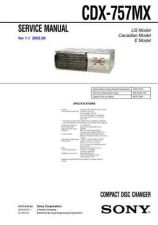 Buy Sony CDX-7561Service Manual by download Mauritron #237554