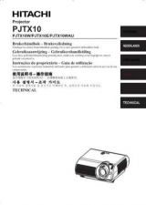 Buy Hitachi PJTX10W_NO Service Manual by download Mauritron #263811
