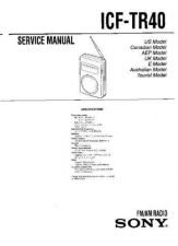 Buy Sony ICF-TR40 Manual by download Mauritron #229310