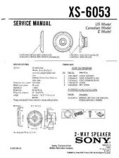 Buy Sony XS-6053 Service Manual. by download Mauritron #246305