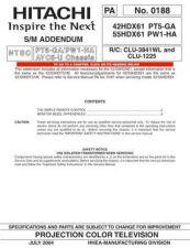 Buy Hitachi 55HDT79-DW2-U-2 Service Manual by download Mauritron #263094