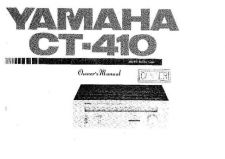 Buy Yamaha CT-410 Operating Guide by download Mauritron #247241