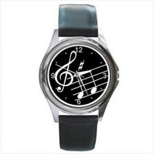 Buy Music Notes Treble Clef Musician Art Wrist Watch NEW