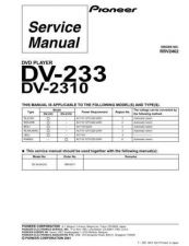 Buy Pioneer DV-233BKXJ-[2] Service Manual by download Mauritron #233962