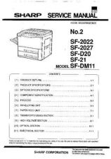 Buy Sharp SF2025-D20-D21-DM11 Service Manual by download Mauritron #210473