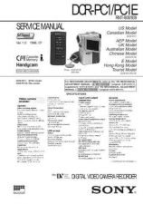 Buy SONY DCRPC1E CAM WSM A6789 Technical Info by download #104723