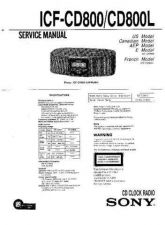 Buy Sony ICF-CD800L Service Manual. by download Mauritron #241586