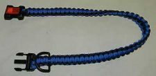 Buy new hand made the usa paracord para cord police blue line dog collar 550