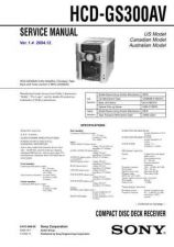 Buy Sony HCD-GS300AV... Technical Information by download Mauritron #235702