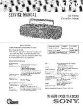 Buy Sony CFD-68 Service Manual by download Mauritron #238758