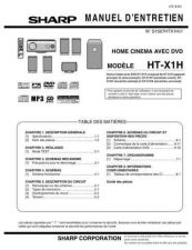 Buy Sharp HTX1H SM FR(1) Service Manual by download Mauritron #208968